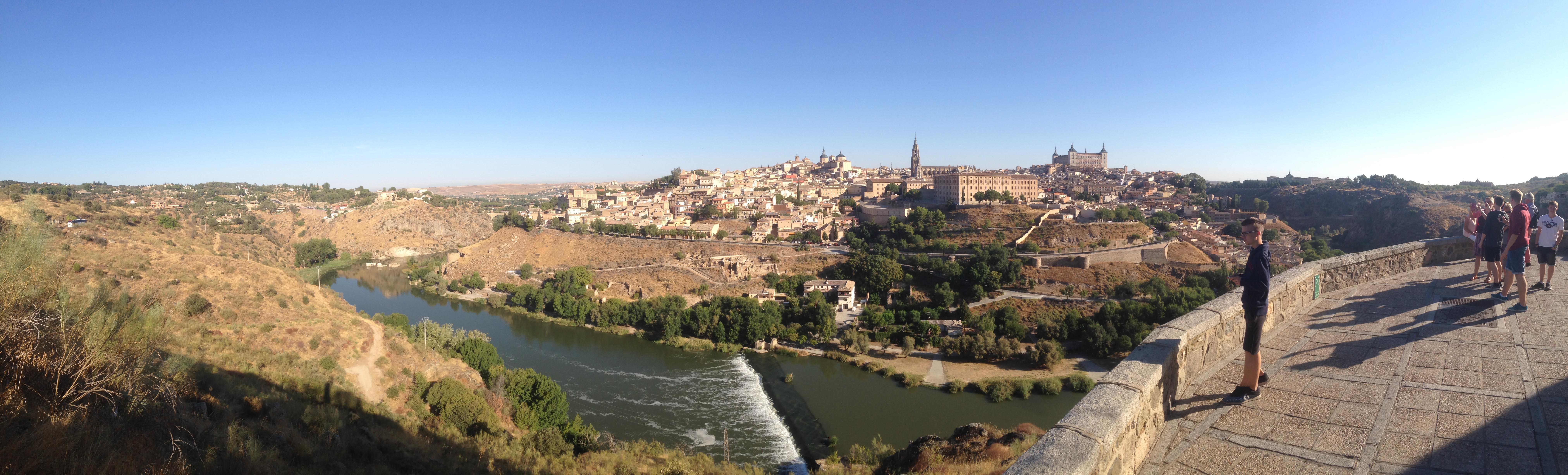 la vista a Toledo