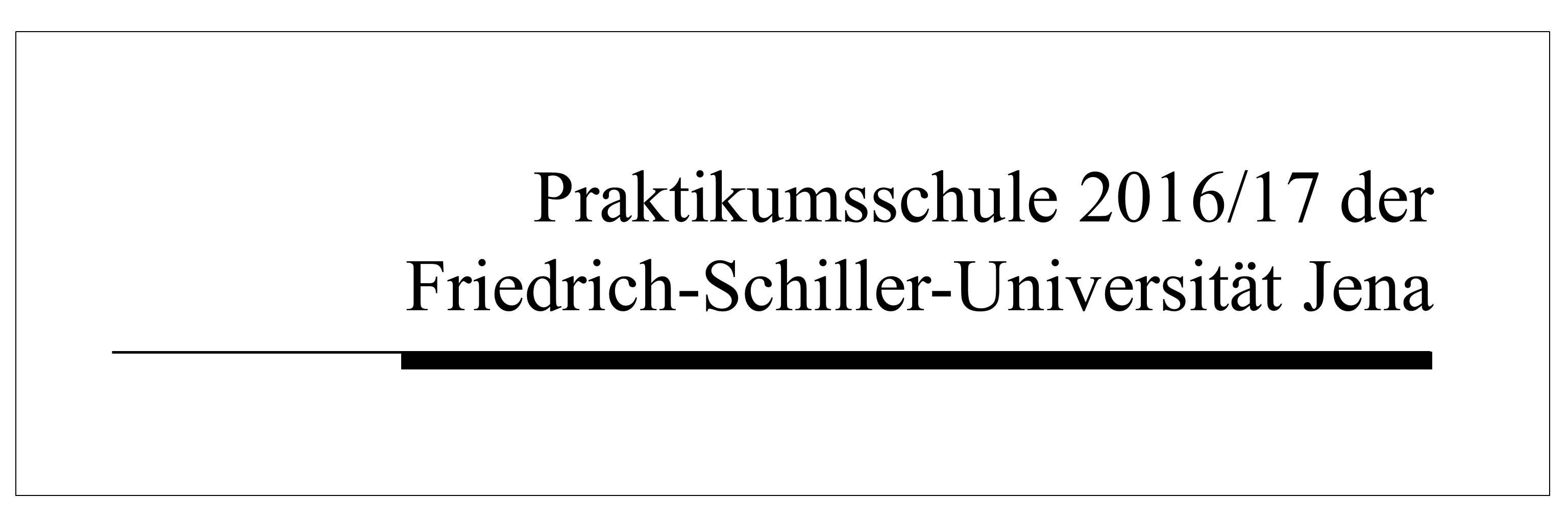 Praktikumsschule - Uni Jena