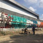Graffitiprojekt der Klasse 9c mit Unterstützung der 11er