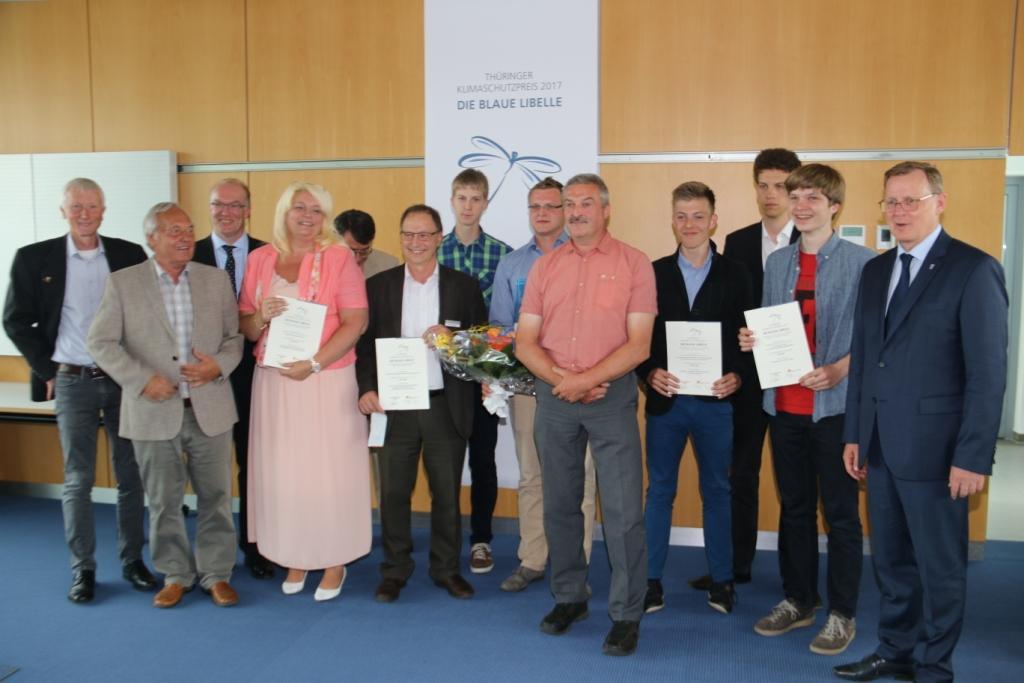 """von-Bülow-Gymnasium erneut erfolgreich vertreten beim Thüringer Klimaschutzpreis """"Blaue Libelle"""""""